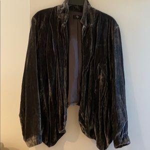 Aqua velvet flyaway jacket NWT large